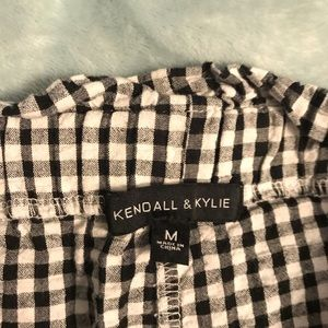 KENDALL AND KYLIE CHECKERED PANTS